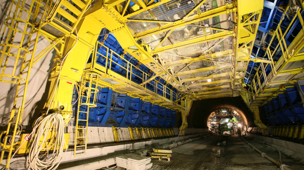 Euroform formwork for conventional tunnelling